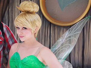 Tinker Bell - Tinker Bell poses in Pixie Hollow, at Disneyland.