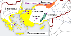 Distribution of Greek dialects during the late Byzantine Empire