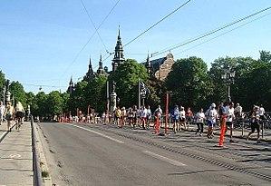 Stockholm Marathon - Stockholm Marathon on bridge Djurgårdsbron, 2007.