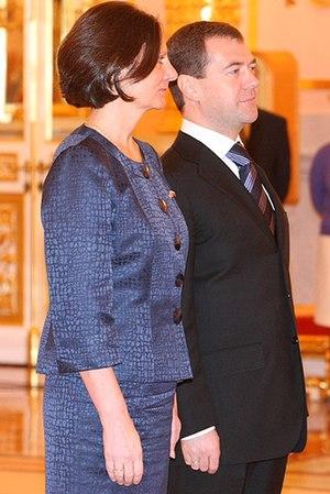 Anne Pringle - Pringle with President of Russia Dmitry Medvedev