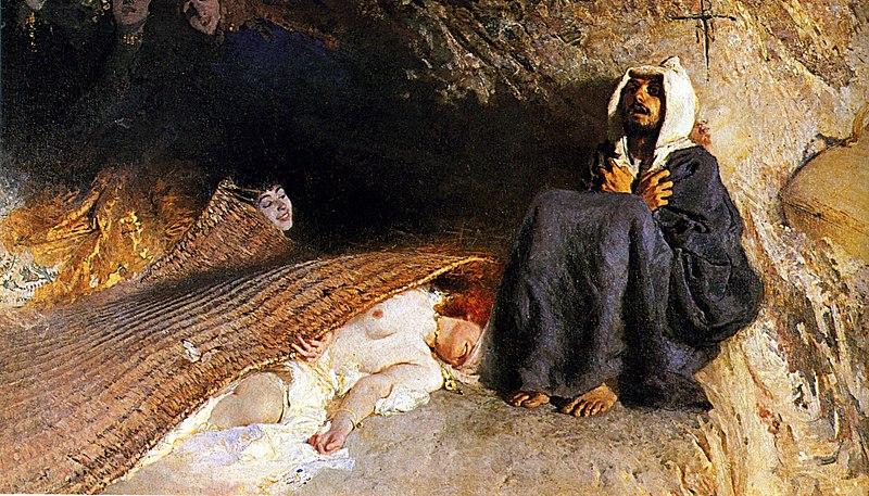Le tentazioni di Sant'Antonio de Domenico Morelli à Rome.