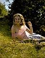 Doreen O'Shea, posing for Turners at Holywell, July 1957.jpg