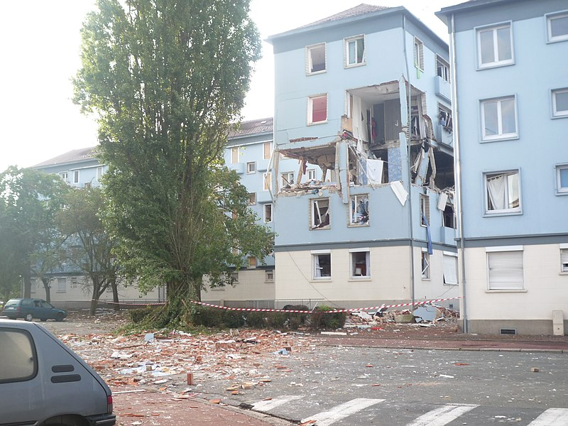 Gas explosion in Douai, France.