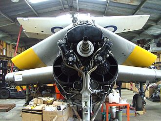 Armstrong Siddeley Double Mamba - Double Mamba in a non-display aircraft at the Fleet Air Arm Museum (Australia).