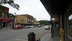 A view of downtown Papillion looking north