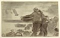 Drawing, Beach with Boats and People, Cullercoats, England, 1881–82 (CH 18174561).jpg