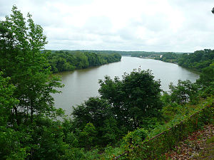 Drewry's Bluff - View down the James River from Drewry's Bluff, 2009