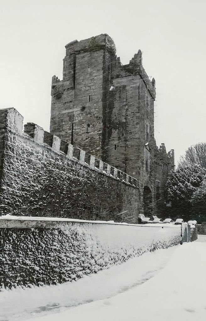 Drimnagh Castle in the snow
