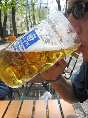 "Drinking ""Maß"" of Augustiner"
