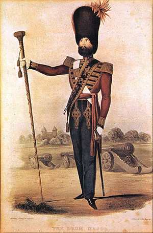 Royal Artillery Mounted Band - RA Band Drum Major, 1844