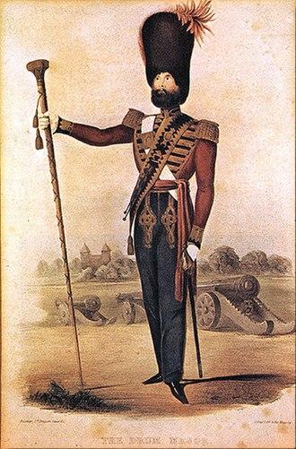 Royal Artillery Mounted Band - RA Band Drum Major, 1844