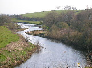 River Irvine river in Ayrshire, Scotland, UK draining into the Firth of Clyde