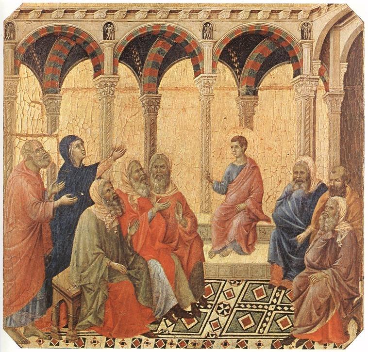 Duccio di Buoninsegna - Disputation with the Doctors - WGA06768