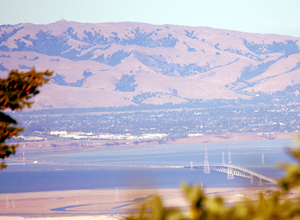 California State Route 84 - Dumbarton Bridge on State Route 84 as seen from Skeggs Point.