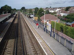 Portchester railway station - Image: Dwn N Prc Stn P1010026