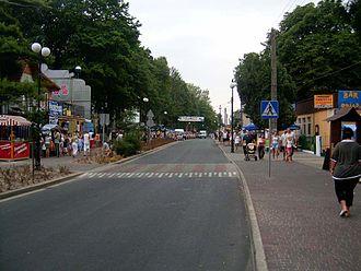 Dziwnów - Main street in Dziwnów