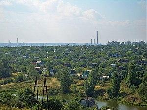 Kstovo's industrial area (Novogorkovskaya TETs...