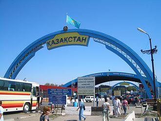 Jambyl Region - Image: E7860 Korday entering KZ