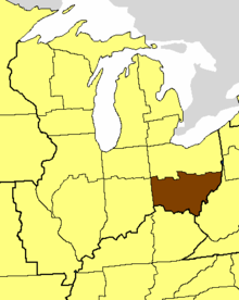 Location of the Diocese of Southern Ohio