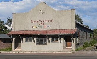 """Eagar Townsite Historic District - """"Grapevine Hall"""" building at 45 N. Main Street"""