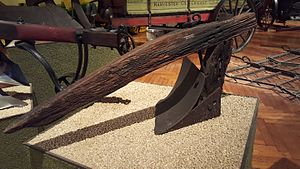 John Deere (inventor) - Early John Deere plow, circa 1845, made in Grand Detour, Illinois. Displayed at The Henry Ford Museum