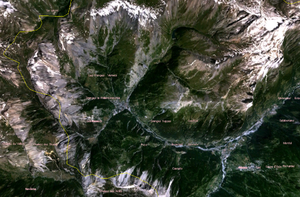 Province of Turin - Satellite view of the western region.