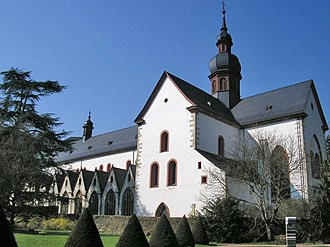 Rheingau (wine region) - The Eberbach Abbey was built by the Cistercian monks who founded much of the Rheingau wine industry, and the buildings still house a wine cellar of the Hessian state winery and are used for wine auctions.