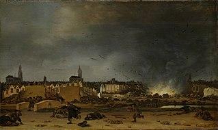 Het springen van de kruittoren in Delft, 12 oktober 1654