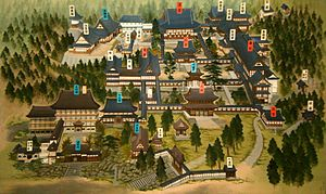 Eihei-ji - The original of this map of Eihei-ji took a priest in Aichi Prefecture 4.5 years to paint.
