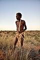 Elia Fester, Kalahari Khomani San Bushman, Boesmansrus camp, Northern Cape, South Africa (19920442413).jpg