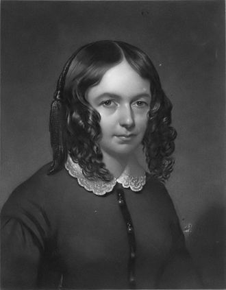 Elizabeth Barrett Browning - An engraving of Elizabeth Barrett Barrett, published in Eclectic Magazine