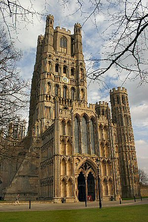 Ely Cathedral - The west front and Galilee Porch