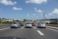 Embouteillages sur l'Autoroute A1 (972) à Fort-de-France.JPG