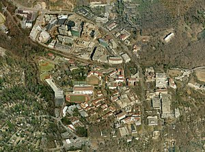 Rollins School of Public Health - Emory University and Centers for Disease Control and Prevention, Druid Hills, Georgia Aerial Image