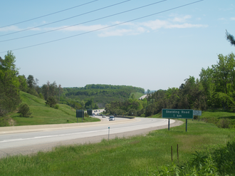 Ontario Highway 35 - Highway 35 immediately south of the split with Highway 115