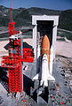 Enterprise at Vandenberg AFB SCL-6 with access tower and launch mount - DF-ST-86-09429.jpg