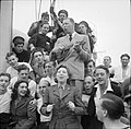 Entertaining British Troops in North West Europe, 1944 B7923.jpg