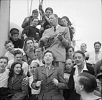Entertaining British Troops in North West Europe, 1944 B7923.jpg
