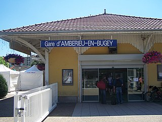 railway station in Ambérieu-en-Bugey, France