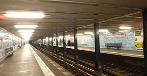 Victoria metro station - The similar station Ernst-Reuter-Platz in Berlin