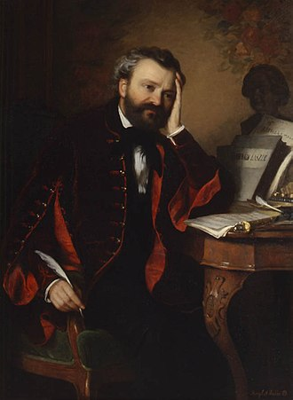 Ferenc Erkel - 1850s painting of  Erkel by Alajos Györgyi Giergl