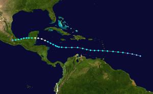 Hurricane Ernesto (2012) - Image: Ernesto 2012 track