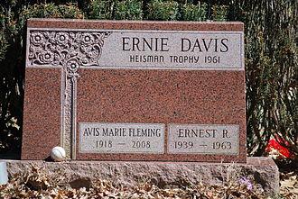 Ernie Davis - Davis' gravestone, Woodlawn Cemetery, Elmira, NY