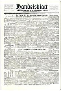 <i>Handelsblatt</i> German business newspaper