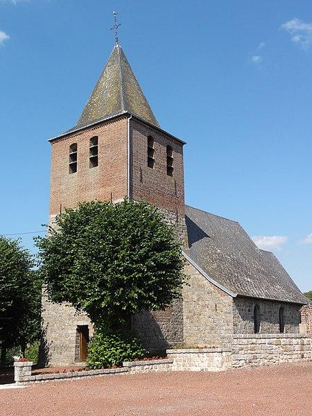 Escarmain (Nord, Fr) l'église