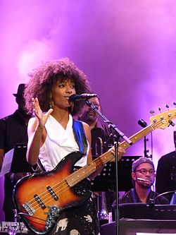 Esperanza Spalding al North Sea Jazz nel 2012.