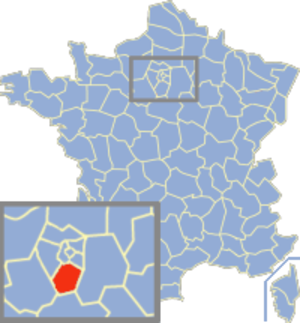 Communes of the Essonne department - Image: Essonne Position