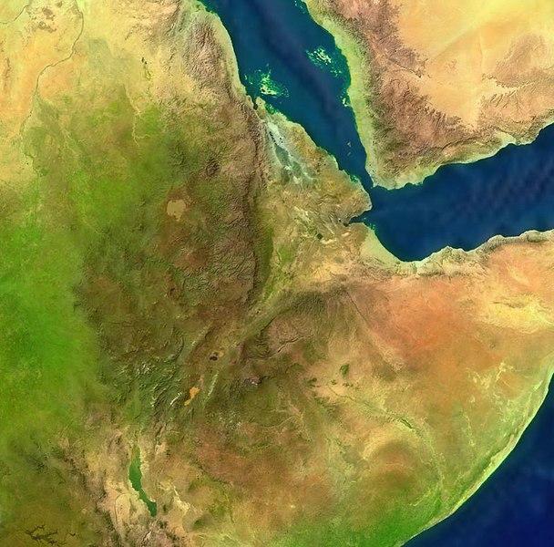 Satellitenaufnahme Äthiopien