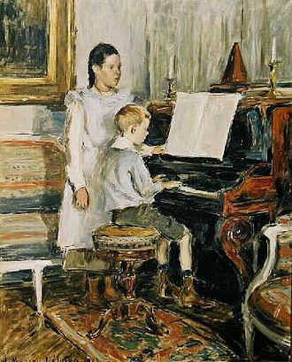 Étienne Moreau-Nélaton - Image: Etienne Moreau Nélaton Enfants au piano