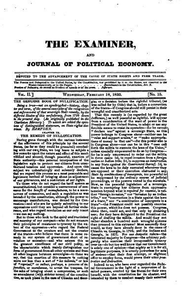 File:Examiner, Journal of Political Economy, v2n15.djvu